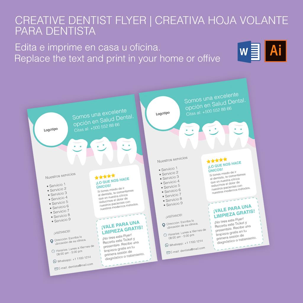 Download Dentist Flyer Microsoft Word